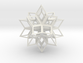Rhombic Hexecontahedron in White Natural Versatile Plastic