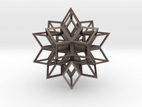 Rhombic Hexecontahedron in Polished Bronzed Silver Steel