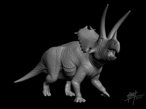 Pentaceratops 1/72 in White Natural Versatile Plastic