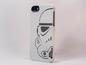 Stormtrooper Iphone 5 case in White Strong & Flexible Polished