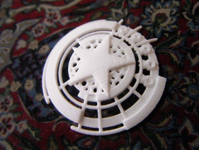 Captain America Shield: Prototype in White Natural Versatile Plastic