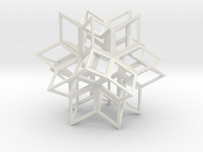 Rhombic Hexecontahedron, Open in White Strong & Flexible
