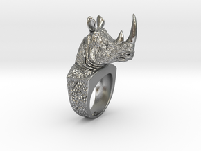 Rhino Ring in Natural Silver: 5 / 49
