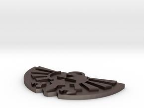 Zelda Logo Pendant in Polished Bronzed Silver Steel