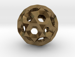 Sphere with holes in Natural Bronze