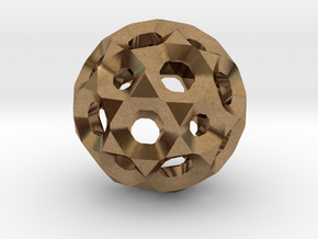 Sphere with holes in Natural Brass