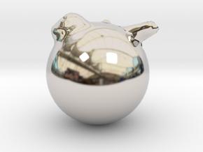 16707 in Rhodium Plated Brass