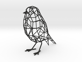 Bird wireframe (with eyes) in Black Strong & Flexible