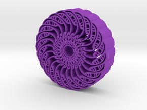 Kaleidoscope flower in Purple Processed Versatile Plastic