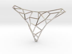 Polygon necklace in Rhodium Plated Brass