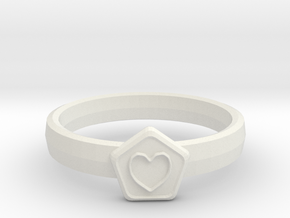 3D Printed Bond What You Love Ring Size 7  in White Natural Versatile Plastic