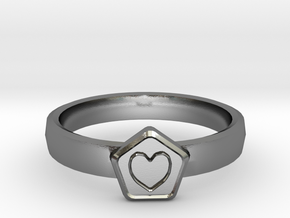 3D Printed Bond What You Love Ring Size 7  in Polished Silver