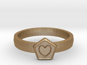3D Printed Bond What You Love Ring Size 7  in Matte Gold Steel