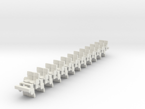 Modern Interior Seats X24 HO scale in White Natural Versatile Plastic