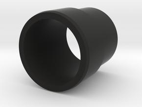 Nerf barrel to muzzle adapter in Black Natural Versatile Plastic