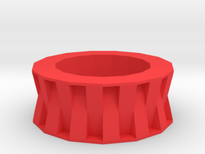 3d rectangles pattern  in Red Processed Versatile Plastic