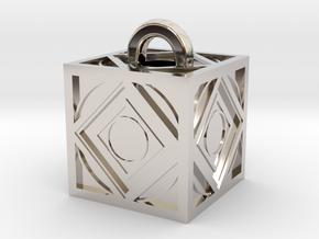 Limited Edition Jedi Holocron Keychain in Rhodium Plated Brass