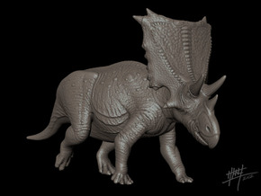 Chasmosaurus Belli 1/72 in White Natural Versatile Plastic