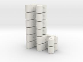 Kugelkopfhalterung LOSI MRC, Set: 2x Doppelt, 4x E in White Natural Versatile Plastic