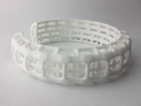 Eutheria Bracelet / Cuff in White Strong & Flexible