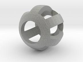 Bead10mm2mmthick60degFiligree in Metallic Plastic