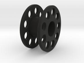 Scuba Reel Bigger in Black Natural Versatile Plastic