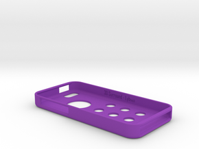 3DSurround - iPhone 5c in Purple Processed Versatile Plastic