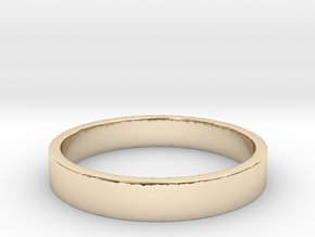 Simple and Elegant Unisex Ring | Size 5.5 in 14k Gold Plated Brass