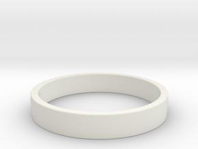 Simple and Elegant Unisex Ring | Size 5.5 in White Natural Versatile Plastic
