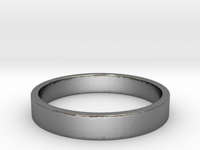 Simple and Elegant Unisex Ring | Size 5.5 in Polished Silver