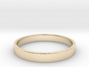 Simple and Elegant Unisex Ring | Size 10 in 14k Gold Plated Brass
