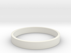 Simple and Elegant Unisex Ring | Size 9 in White Natural Versatile Plastic