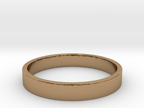 Simple and Elegant Unisex Ring | Size 7 in Polished Brass
