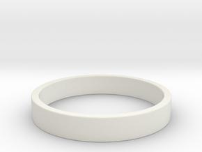 Simple and Elegant Unisex Ring   Size 6 in White Natural Versatile Plastic