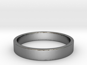 Simple and Elegant Unisex Ring | Size 5 in Polished Silver