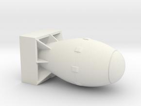 Atomic Bomb in White Natural Versatile Plastic