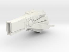 LoGH Imperial Fast Battleship 1:3000 (Part 2/2) in White Natural Versatile Plastic
