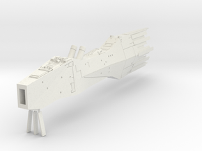 LoGH Alliance Battleship 1:3000 (Part 2/2) in White Natural Versatile Plastic