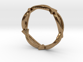 Jesus Fish Eterniy Style Ring Size 8 in Natural Brass