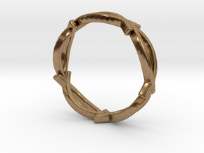 Jesus Fish Eterniy Style Ring Size 10 in Natural Brass