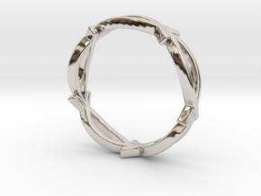 Jesus Fish Eterniy Style Ring Size 11 in Rhodium Plated Brass