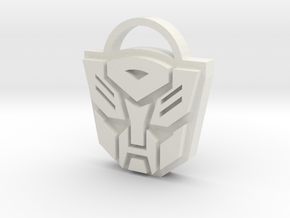 Transformers Keyring in White Natural Versatile Plastic