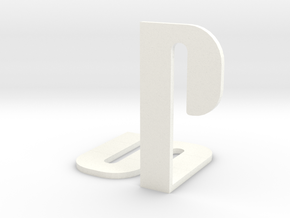 Playstation Logo in White Processed Versatile Plastic