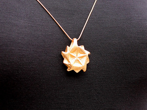Ze Pendant #2247 in Polished Gold Steel