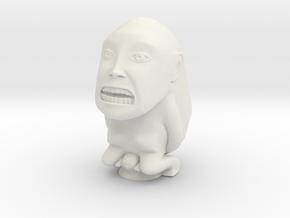 Fertility Idol (Indiana Jones) 5 Inches in White Natural Versatile Plastic