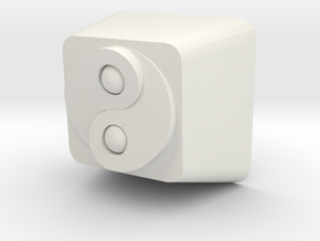 Cherry MX Yin Yang Keycap in White Natural Versatile Plastic