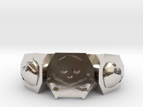 Skull N Hearts Ring in Platinum