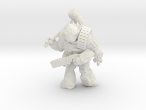 Scilinoid Warrior (28mm/Heroic scale) in White Natural Versatile Plastic