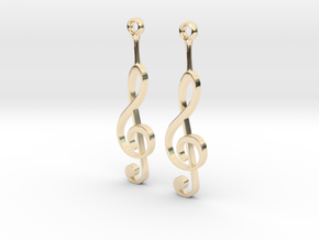 Musical Staff Earings in 14K Yellow Gold