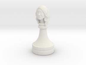 Gibson_ChessPiece in White Natural Versatile Plastic